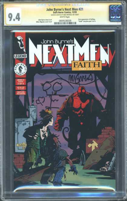 CGC Graded Comics - John Byrne's Next Men #21 (CGC)