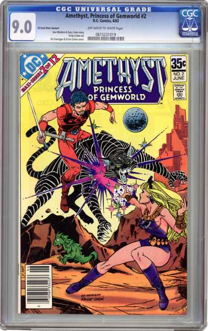 CGC Graded Comics - Amethyst, Princess of Gemworld #2 (CGC) - Princess Of Gemworld - 2 Of 12 - Big Cat - Planet - Sword