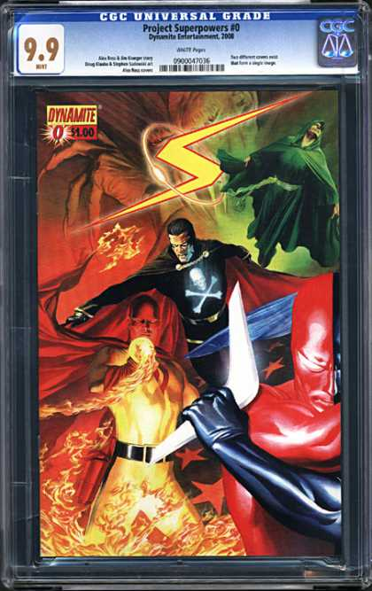 CGC Graded Comics - Project Superpowers #0 (CGC) - Fire - Devil - Lightning - Hand - Project Superpowers 0