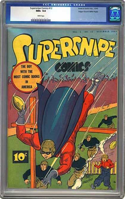 CGC Graded Comics - Supersnipe Comics #12 (CGC) - Superhero - Rugby - All Star - Game - Fly