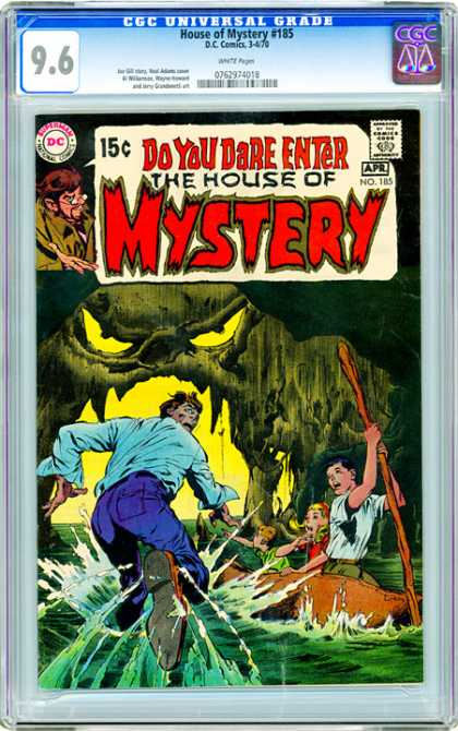 CGC Graded Comics - House of Mystery #185 (CGC) - Comics Code Authority - Dc - Boat - Creature - People