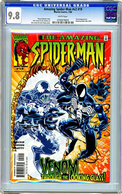 CGC Graded Comics - Amazing Spider-Man #v2 #19 (CGC) - Monster - Fight - Mirror - War - Scarry