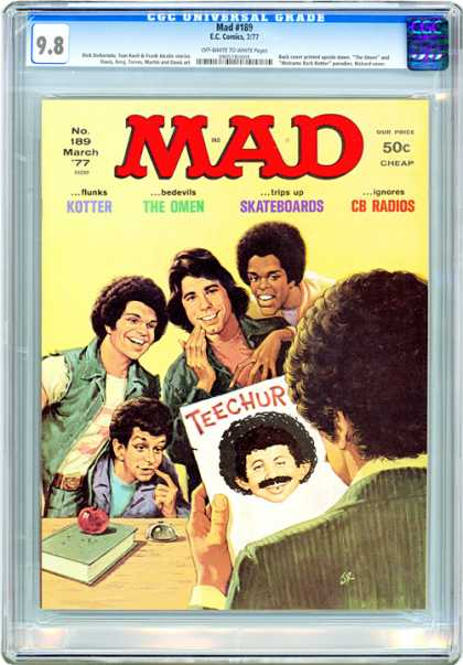 CGC Graded Comics - Mad #189 (CGC) - Mad - Welcome Back Kotter - Skateboards - March 1977 - The Omen