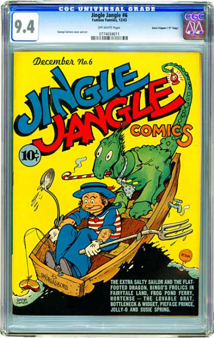CGC Graded Comics - Jingle Jangle #6 (CGC) - Jingle - Jangle - December - Comics - Dragon