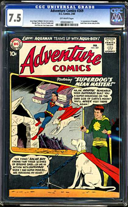 CGC Graded Comics - Adventure Comics #269 (CGC) - Superman - Superdog - Krypto - House Construction - Collar And Chain