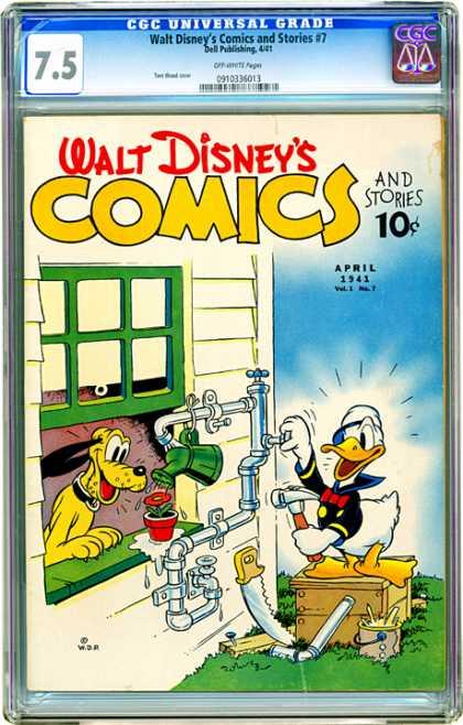 CGC Graded Comics - Walt Disney's Comics and Stories #7 (CGC)