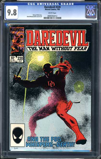CGC Graded Comics - Daredevil #220 (CGC) - Fog - Whispers - Death - Man - Fear