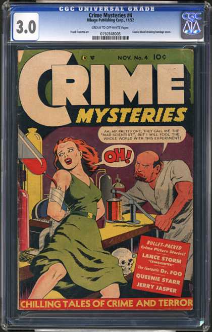CGC Graded Comics - Crime Mysteries #4 (CGC)