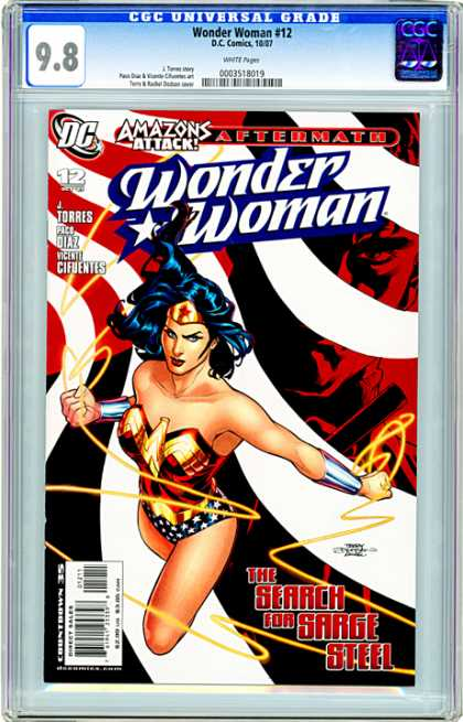 CGC Graded Comics - Wonder Woman #12 (CGC) - Amazons Attack Aftermath - Wonder Woman - Issue Number 12 - J Torres - Search For Sarge Steel