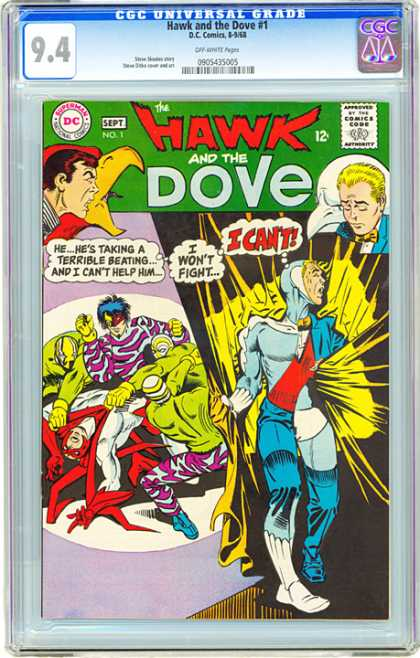 CGC Graded Comics - Hawk and the Dove #1 (CGC) - Hawk And Dove - Super Man - Man With Fight - I Cant Help - I Wont Fight