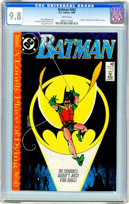 CGC Graded Comics - Batman #442 (CGC) - Batman - Robin - A Lonely Place Of Dying - Part 5 Of 5 - Rope