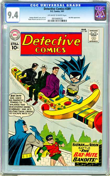 CGC Graded Comics - Detective Comics #289 (CGC) - Sword - Bat-mite - Robin - Fedora - Jewels
