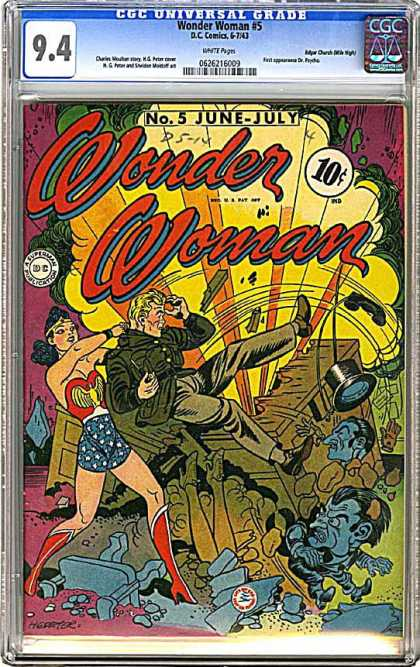 CGC Graded Comics - Wonder Woman #5 (CGC) - Wonder Woman - Dc Comics - June-july - Dc - Superman