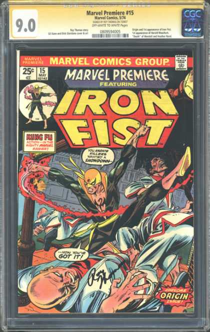 CGC Graded Comics - Marvel Premiere #15 (CGC) - Marvel Premiere - Comics Code - Costume - Battle - Kung Fu