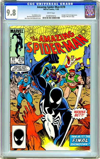 CGC Graded Comics - Amazing Spider-Man #270 (CGC) - Crossover - Captain America - Hercules - Showdown - Firelord