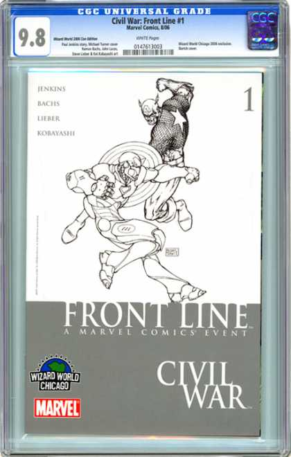 CGC Graded Comics - Civil War: Front Line #1 (CGC) - Hero - War - Body - Legs - Horn