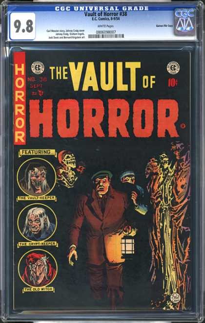 CGC Graded Comics - Vault of Horror #38 (CGC) - Vault-keeper - Crypt-keeper - Latern - Skeleton - Witch