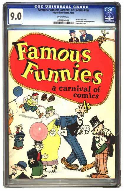 CGC Graded Comics - Famous Funnies: Carnival of Comics #nn (CGC) - Famous Funnies - Carnival Of Comics - Bubble Gum - Top Hat - Tall Man