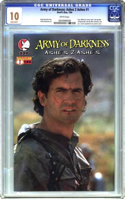 CGC Graded Comics - Army of Darkness: Ashes 2 Ashes #1 (CGC) - Army Of Darkness - Devil - Dynamite - Ashes To Ashes - Shirt