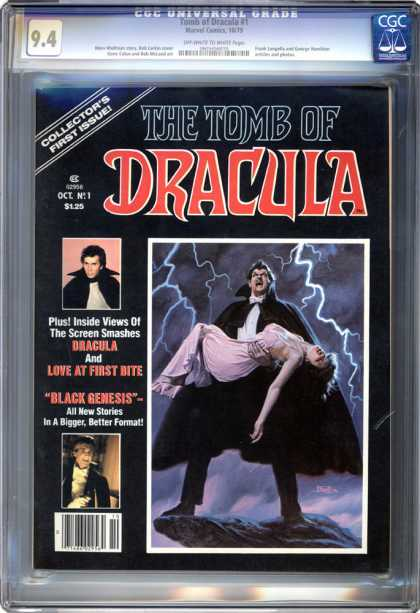 CGC Graded Comics - Tomb of Dracula #1 (CGC) - Love At First Bite - Black Genesis - Lightning - Tomb Of Dracula - Dracula