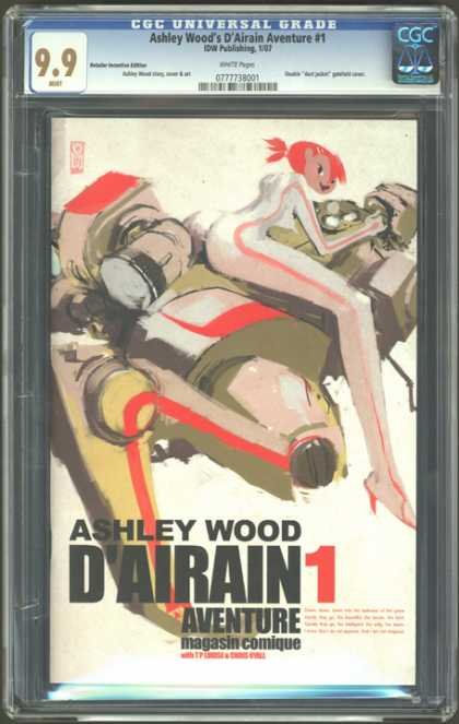 CGC Graded Comics - Ashley Wood's D'Airain Adventure #1 (CGC) - Robot - Super Hero - Female - Ashley Wood - Dairain Adventure