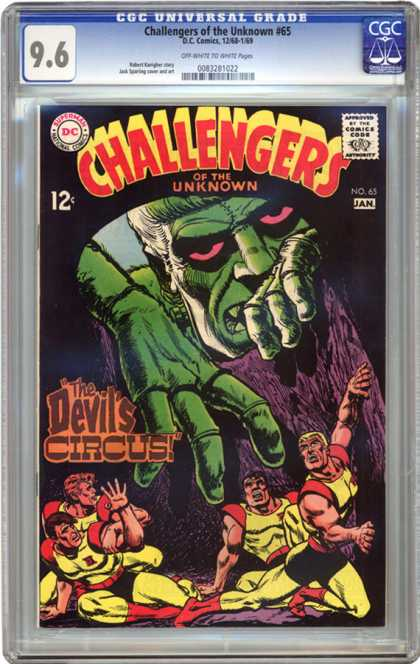 CGC Graded Comics - Challengers of the Unknown #65 (CGC) - The Devils Circus - Green Monster - Superman - Dc - National Comics