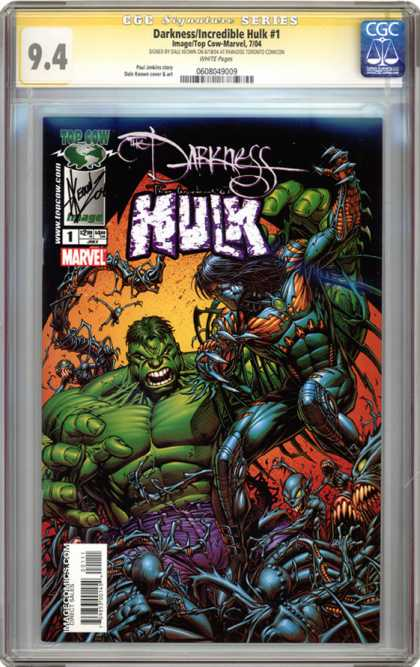 CGC Graded Comics - Darkness/Incredible Hulk #1 (CGC) - Darkness - The Incredible Hulk - Marvel - Top Cow - Demons