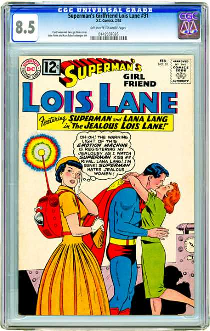 CGC Graded Comics - Superman's Girlfriend Lois Lane #31 (CGC) - Supermans Girl Friend - Lois Lane - Lana Lang - The Jealous Lois Lane - Kiss