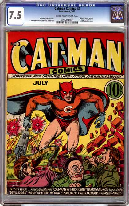 CGC Graded Comics - Catman Comics #3 (CGC)