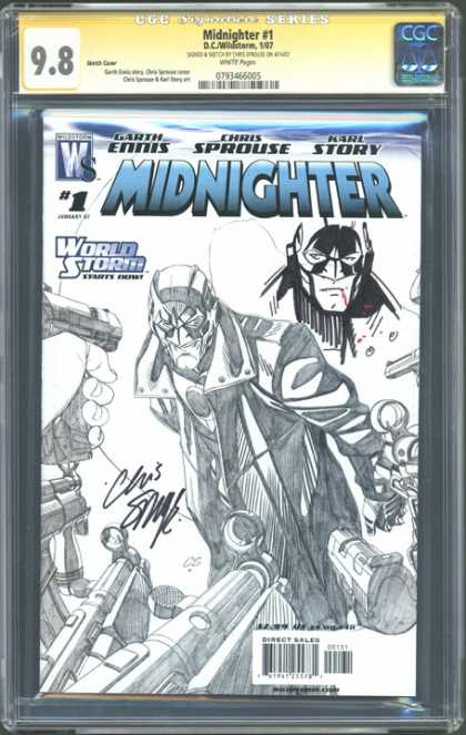 CGC Graded Comics - Midnighter #1 (CGC) - Garth Ennls - Chris Sprouse - Karl Story - World Storm - Autograph