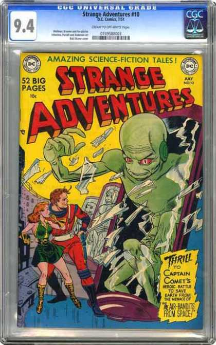 CGC Graded Comics - Strange Adventures #10 (CGC) - Strange Adventures - July - Science-fiction - Dc - Captain Comet