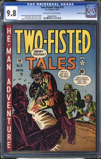 CGC Graded Comics - Two-Fisted Tales #19 (CGC) - Adventure - War - Army - Death - Battle