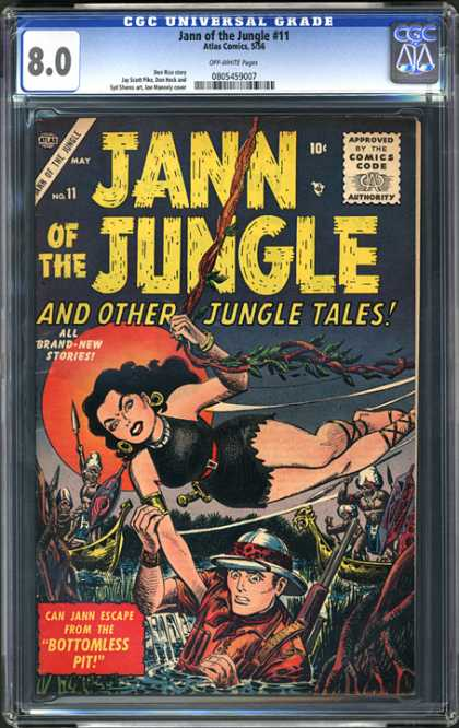 CGC Graded Comics - Jann of the Jungle #11 (CGC) - Jann Of The Jungle - Jungle Tales - No 11 - Bottomless Pit - Pith Helmet
