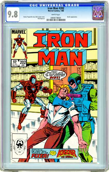 CGC Graded Comics - Iron Man #202 (CGC)