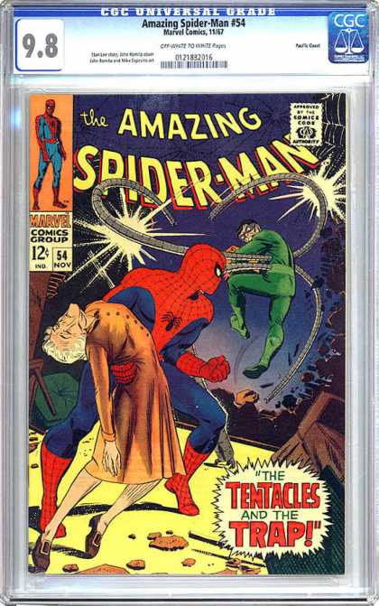 CGC Graded Comics - Amazing Spider-Man #54 (CGC) - The Amazing Spiderman - Dr Octavious - Marvel Comics Group - Nov Issue 54 - Science Fiction
