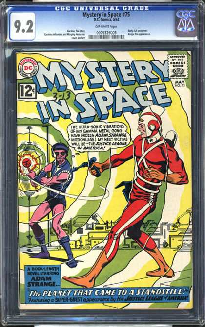 CGC Graded Comics - Mystery in Space #75 (CGC) - Mystery In Space - Justice League - America - Gong - Adam Strange