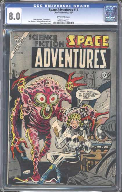 CGC Graded Comics - Space Adventures #12 (CGC) - Spacesuit - Alien - Woman - Smile - Life