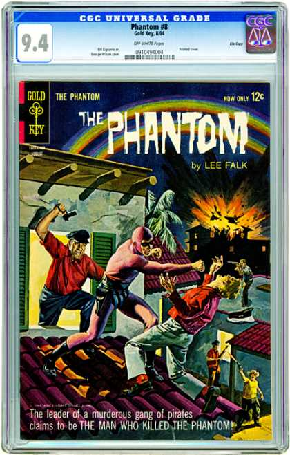 CGC Graded Comics - Phantom #8 (CGC) - The Phantom - Lee Falk - Battle - Fire - Men