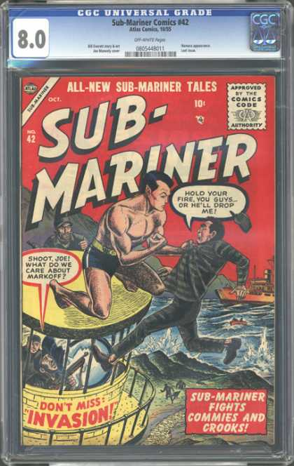 CGC Graded Comics - Sub-Mariner Comics #42 (CGC) - All-new Sub-mariner Tales - Sub-mariner - Dont Miss Invasion - Sub-mariner Fights Commies And Crooks - Approved Byt The Comics Code Authority