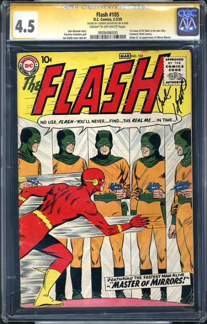 CGC Graded Comics - Flash #105 (CGC) - Real Flash - Just Mirror - Fun Fight - Swing Man - Flash Boy