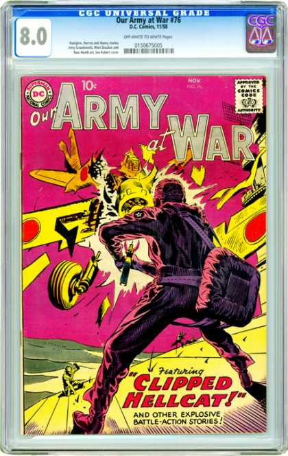 CGC Graded Comics - Our Army at War #76 (CGC)
