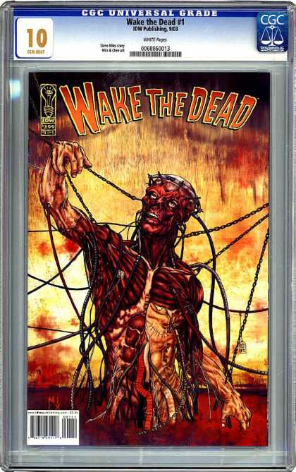 CGC Graded Comics - Wake the Dead #1 (CGC) - Chains - Blood - Skeleton - Muscles - Instestines