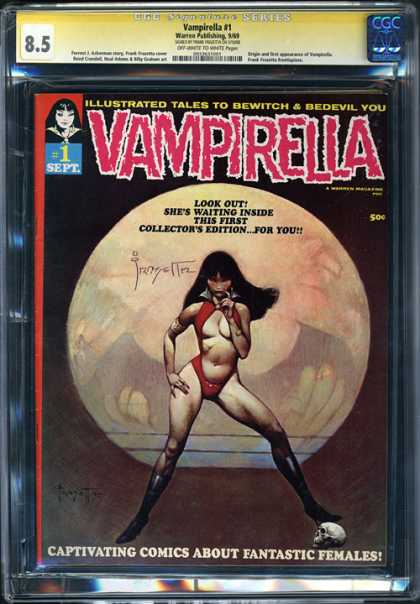 CGC Graded Comics - Vampirella #1 (CGC) - Bewitch - Female - Captivating - 85 - Fantastic