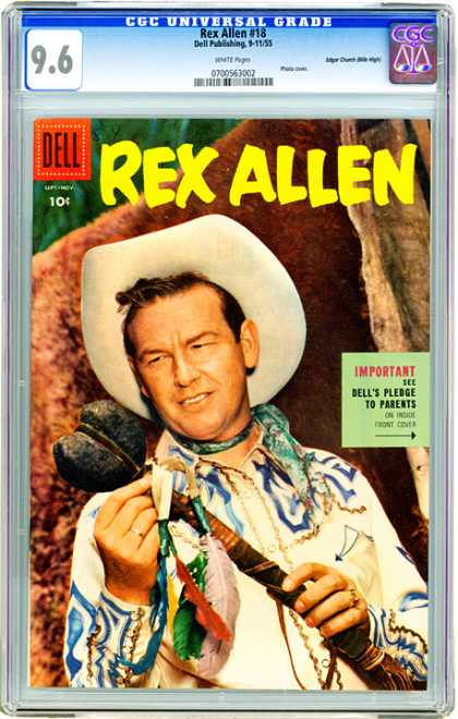 CGC Graded Comics - Rex Allen #18 (CGC)