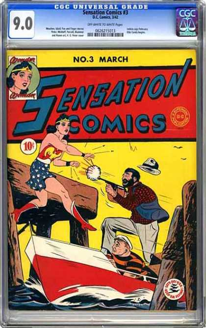 CGC Graded Comics - Sensation Comics #3 (CGC)
