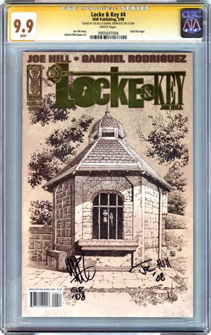CGC Graded Comics - Locke & Key #4 (CGC) - Autographed By Authors - Mint Condition - Black U0026 White - Girl Locked In Steaple - Valueable