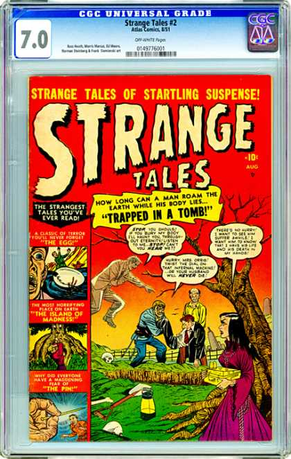 CGC Graded Comics - Strange Tales #2 (CGC) - Trapped In A Tomb - The Egg - The Island Of Madness - The Pin - Tales Of Startling Suspense