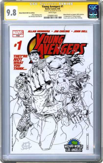 CGC Graded Comics - Young Avengers #2 (CGC) - Theyre Not What You Think - Allan Heinberg - John Dell - Superhero - Black And White