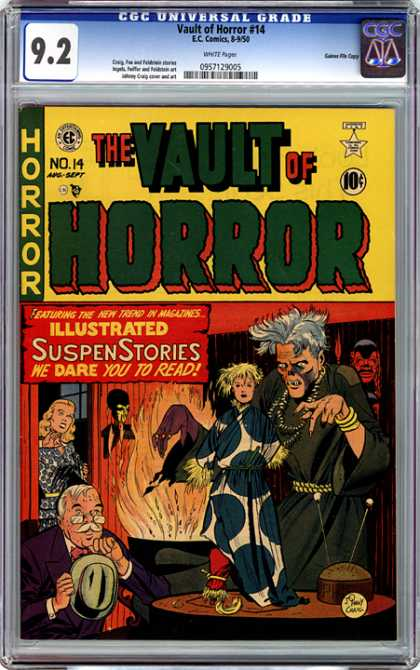 CGC Graded Comics - Vault of Horror #14 (CGC) - The Vault Of Horror - Eccomics - Cap - Suspenstories - Illustrated