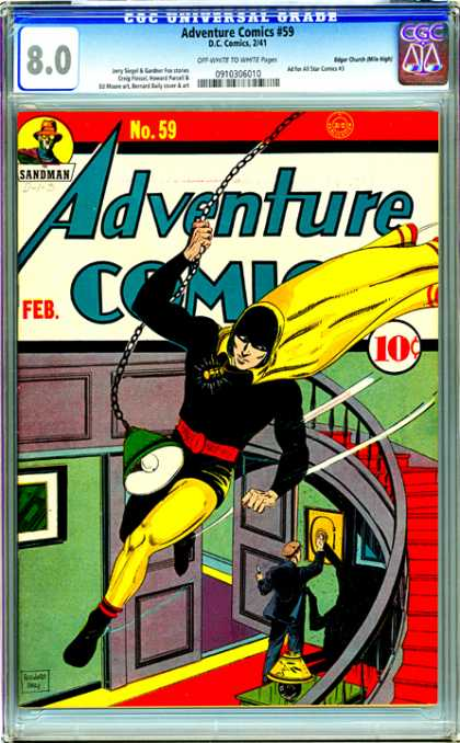 CGC Graded Comics - Adventure Comics #59 (CGC) - Cgc - Adventure Comics - Rubbery - Thief - House